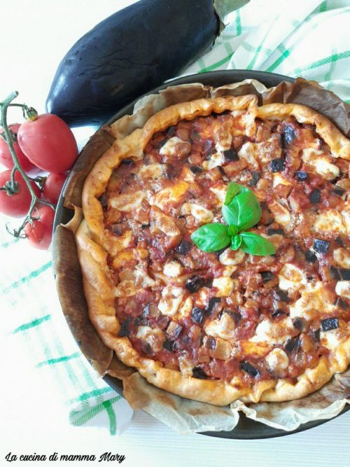 Torta salata alla parmigiana di melanzane_2