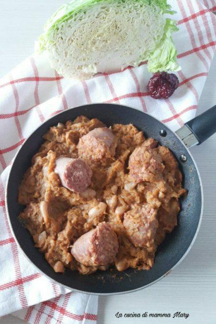 Verza con salsiccia e pepe rosso calabrese_2