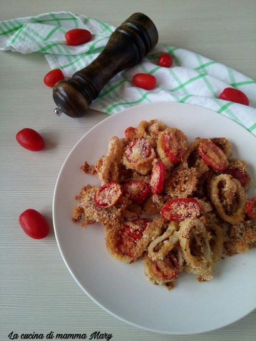 Anelli di totano gratinati al forno con pomodorini_2