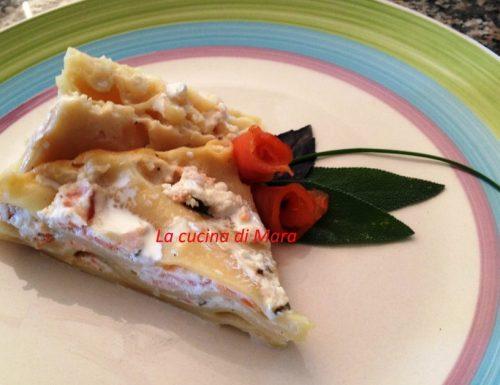 Lasagne ricce con salmone e ricotta
