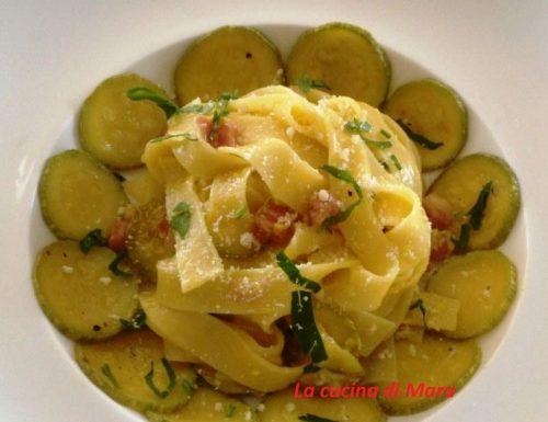 Carbonara con zucchine ricetta facilissima