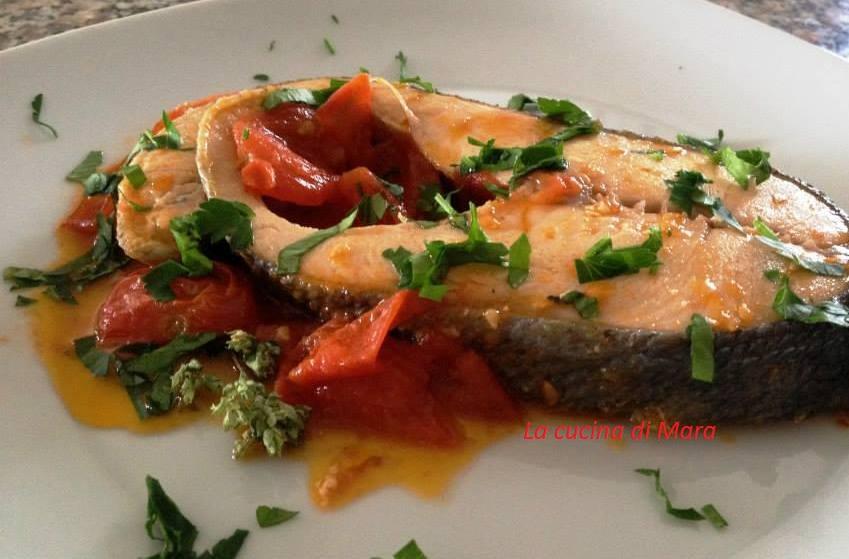 Trancio di salmone con pomodorini la cucina di mara