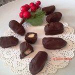 Datteri farciti ricoperti di cioccolato