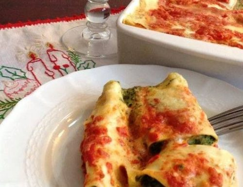 Cannelloni freschi con ricotta e spinaci