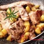 Coniglio con patate in padella