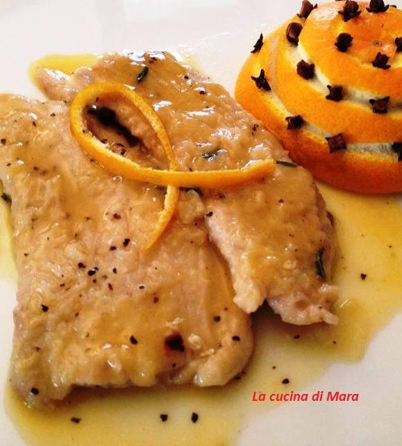 Fettine di maiale, arancia e garofano