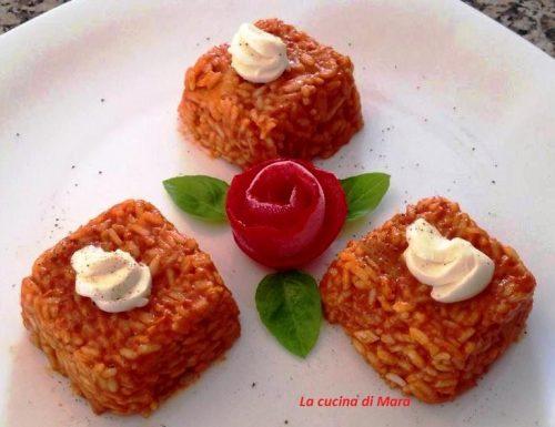 Tortini di riso con patate e mozzarella