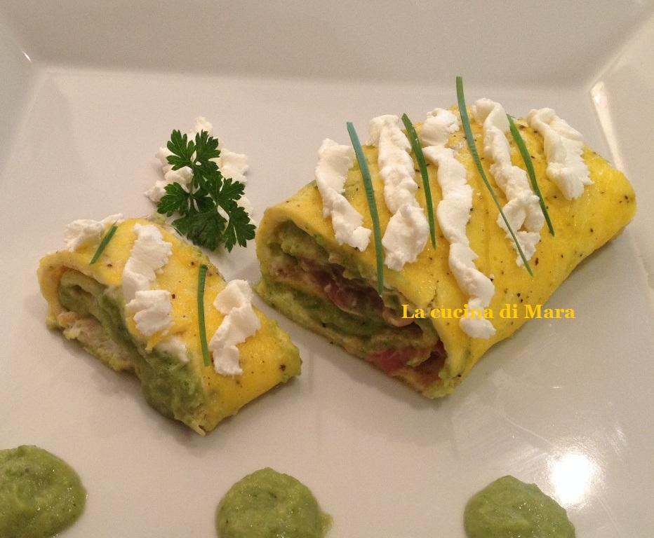 Rotolo salato con crema di zucchine