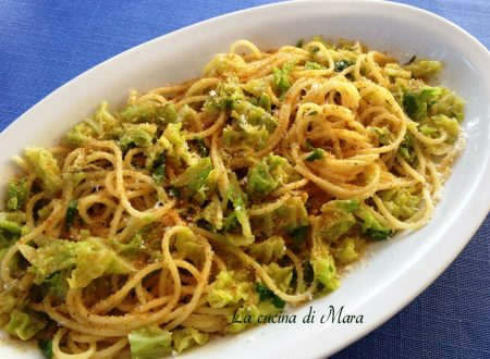 Spaghetti con cavolo verza