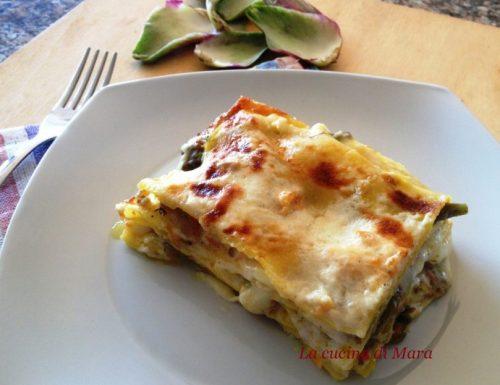 Lasagne con carciofi e carne