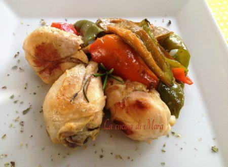 Pollo al curry con peperoni