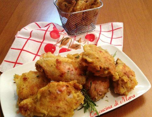 Pollo in pastella fritto