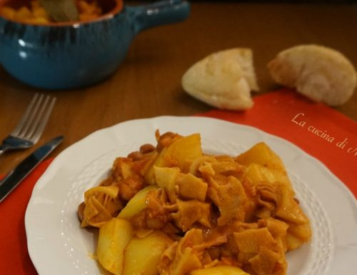 Trippa al pomodoro con patate e fagioli