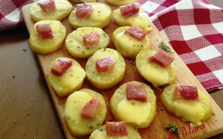 Fettine filanti di patate al forno