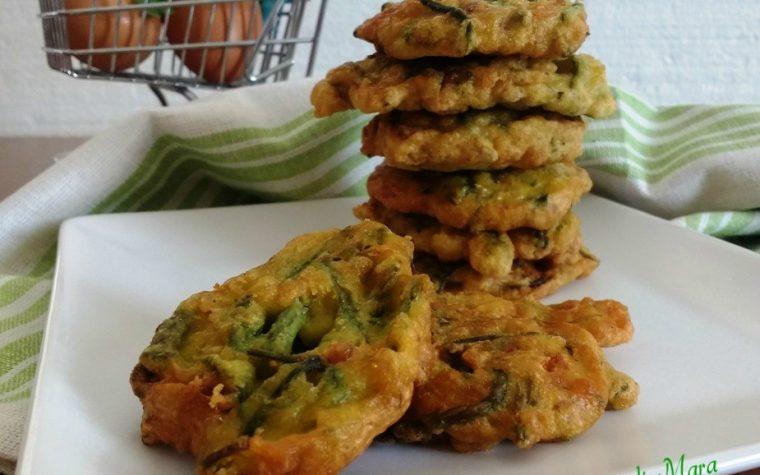 Frittelle di asparagi e prosciutto crudo