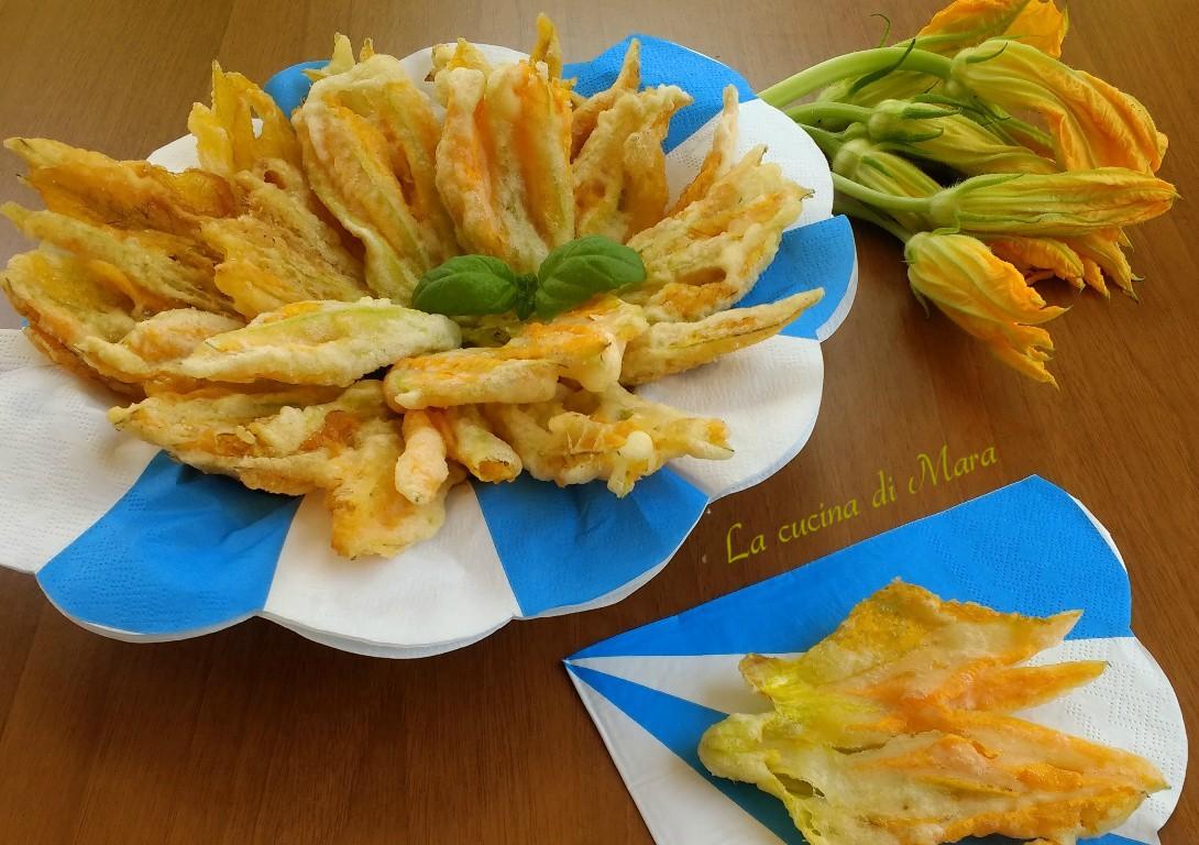 Fiori Fritti Giallo Zafferano.Fiori Di Zucca In Pastella Fritti Croccanti La Cucina Di Mara