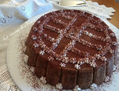 Torta rovesciata tiramisù e cioccolato