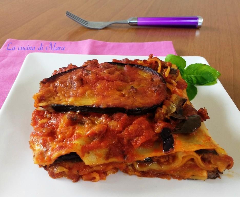 Lasagne con melanzane fritte