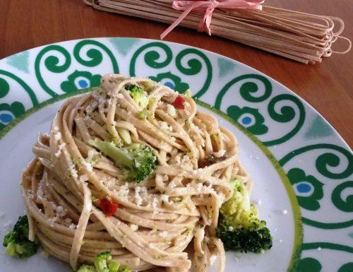 Struncatura con broccoli e alici