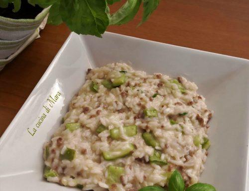 Risotto con zucchine e carne tritata