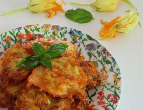 Frittelle di fiori di zucca e ricotta