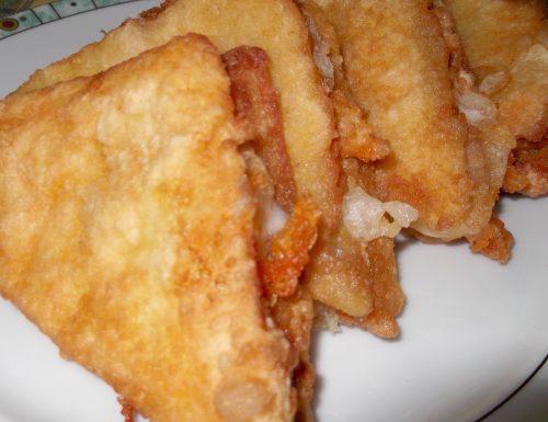 Mozzarella in carozza ,ricetta antipasto La cucina di Marge