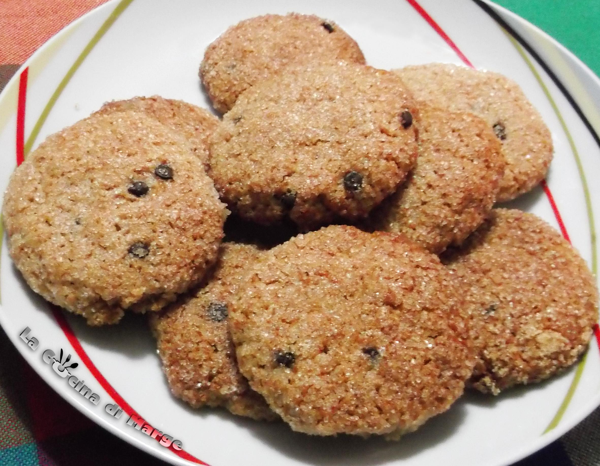 Biscotti Integrali. Oggi biscotti integrali senza burro