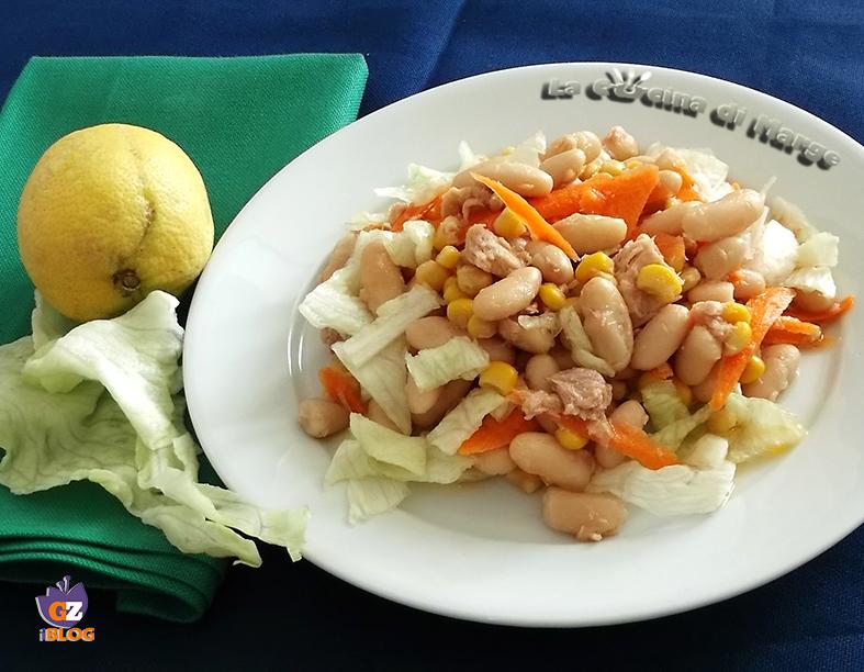 insalata di fagioli bianchi tonno