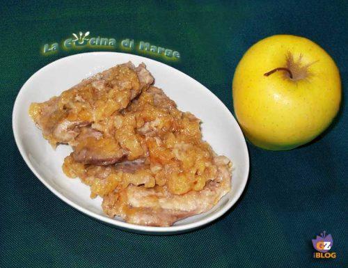 Lonza di maiale  con le mele – ricetta secondo