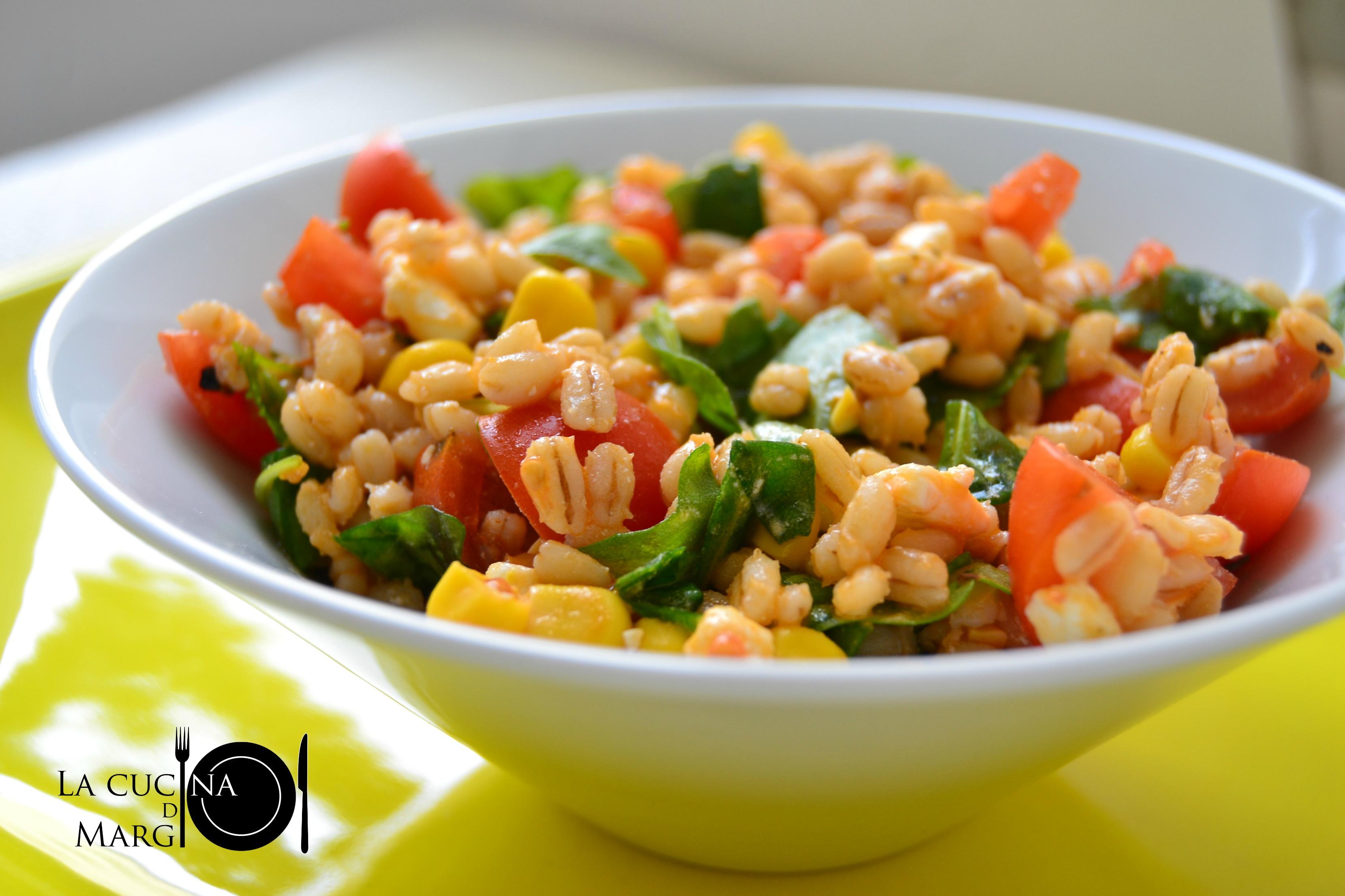 Ricette Orzo Vegetariano.Insalata D Orzo Perlato 02 Logo Dsc 0084 La Cucina Di Margi