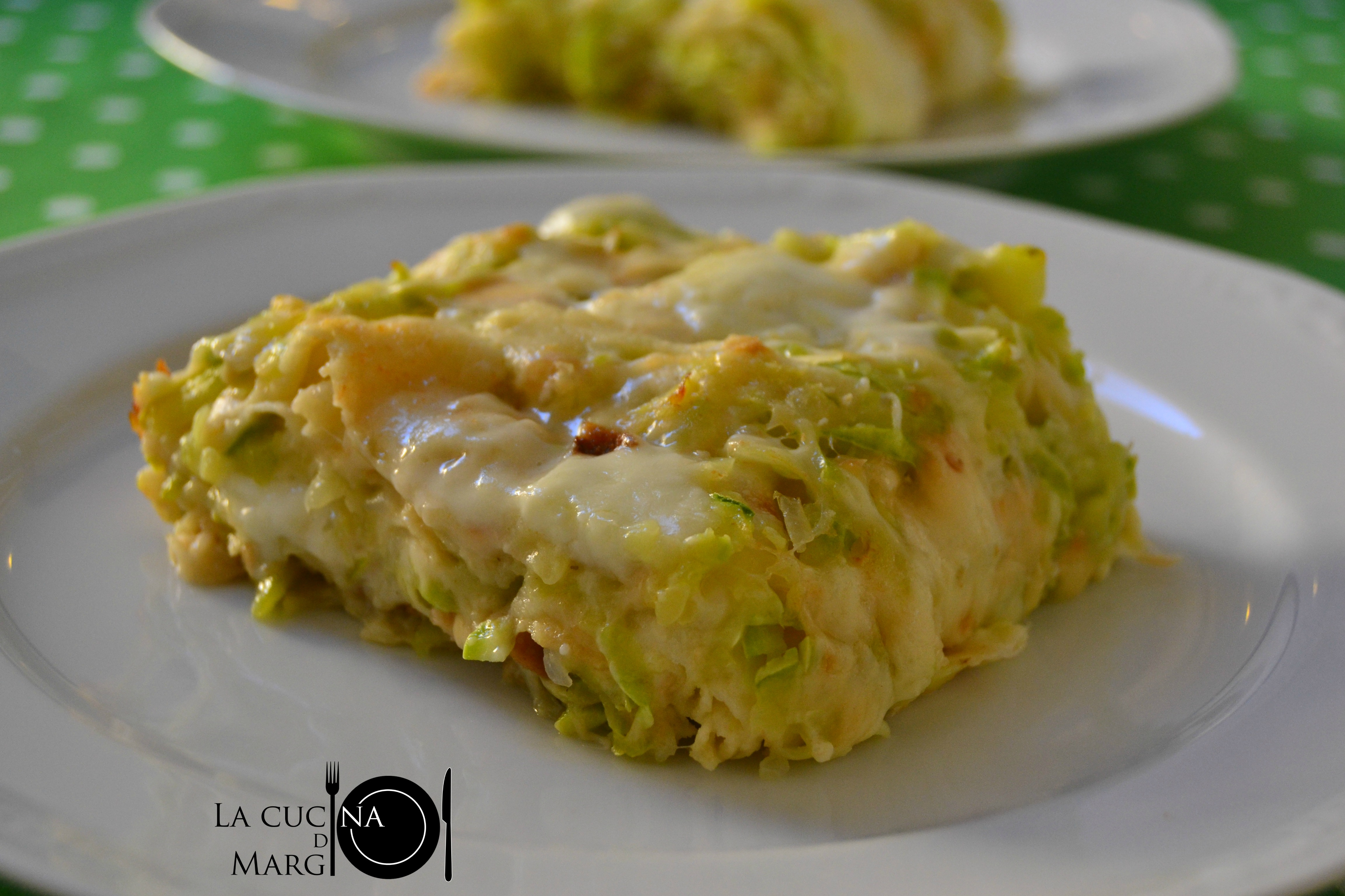 Lasagne di pane carasau con zucchine e stracchino