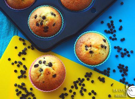 Muffin alla nutella con gocce di cioccolato