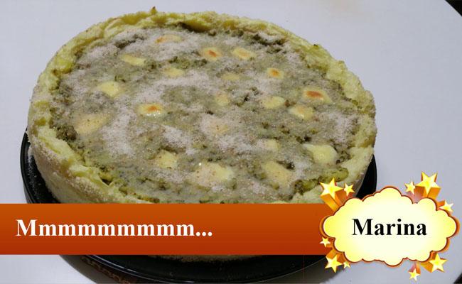 Crostata Broccoli e Salsiccia