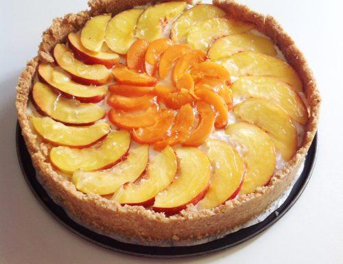 Cheesecake fredda con ricotta e fantasia di frutta
