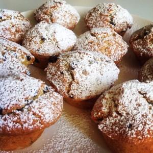 Muffins con le gocce di cioccolato