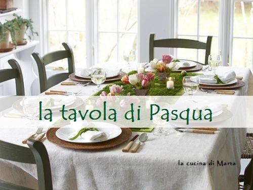 La tavola di pasqua la cucina di marta - La tavola di pasqua ...