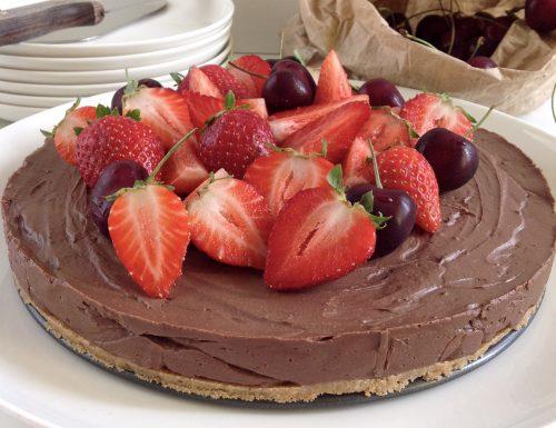 Cheesecake fredda al cioccolato fondente