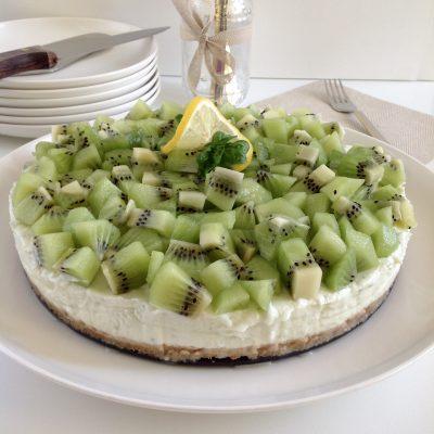 Cheesecake fredda al limone e basilico