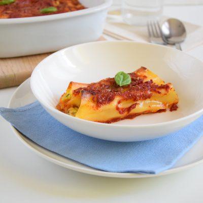 Cannelloni con zucchine ricotta e speck