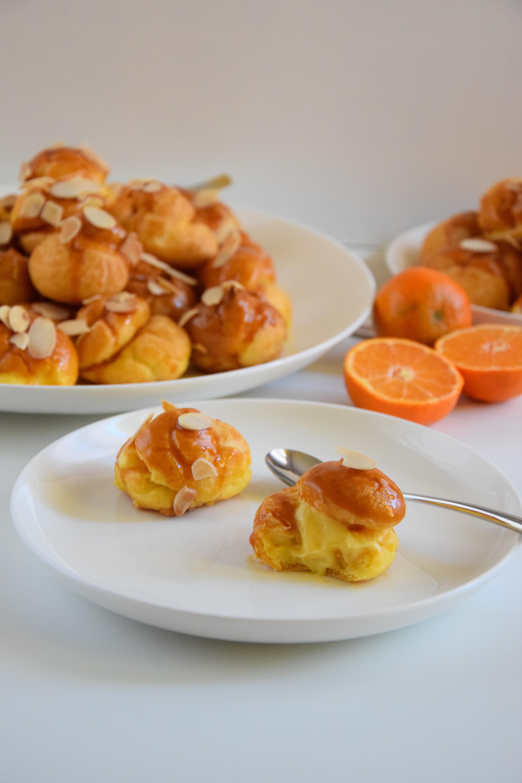 Bignè al mandarino e caramello salato