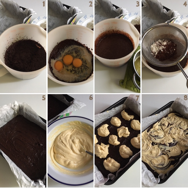 Brownies cheesecake alla crema di whisky