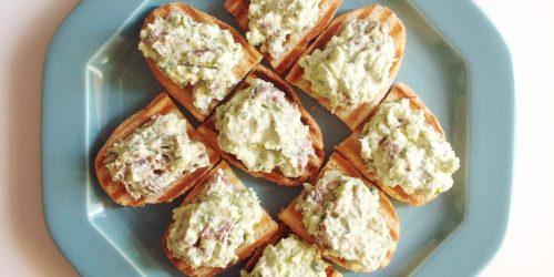 Crostone con bresaola e zucchine