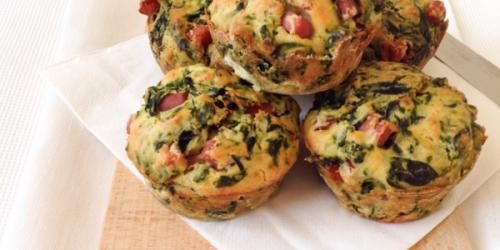 Muffin salati con cotto e spinaci