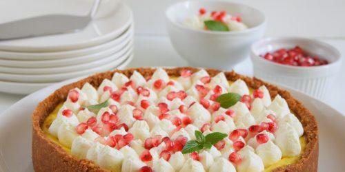 Cheesecake allo zafferano e vaniglia