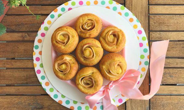 Muffin con roselline di mele