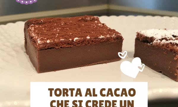 Torta al cacao che si crede un budino (Extra mud cake)