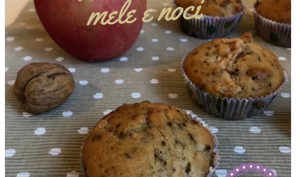 Muffin rustici con mele e noci