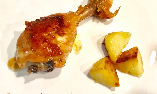 Fusi di pollo con miele e paprika