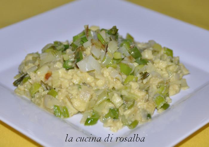 uova strapazzate con cipollotti