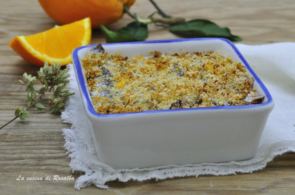 tortino di sarde con arancia